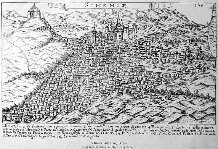 old depiction of Banská Štiavnica (Selmecbánya, Schemnitz)..  ...looks like some sort of a Middle-eastern settlement