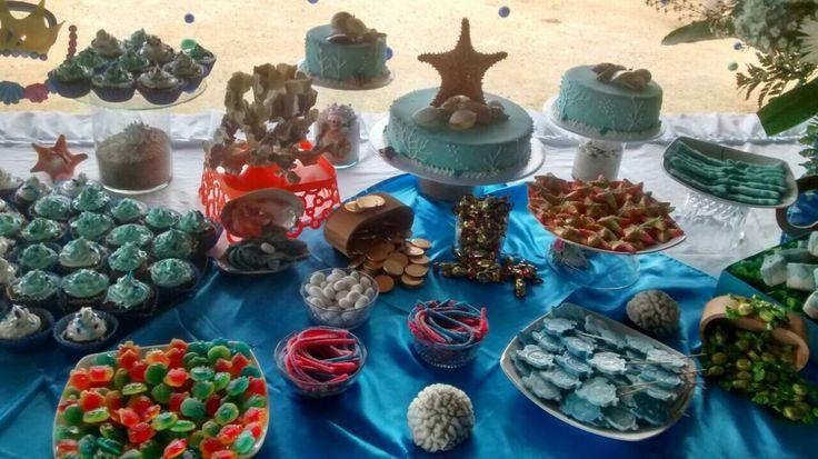 Mesa de dulces #motivoBajoElMar #15Mercy