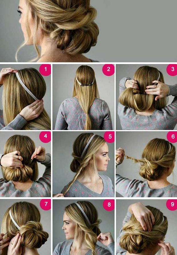 How to make a twisted bun at home – Twisted bun models