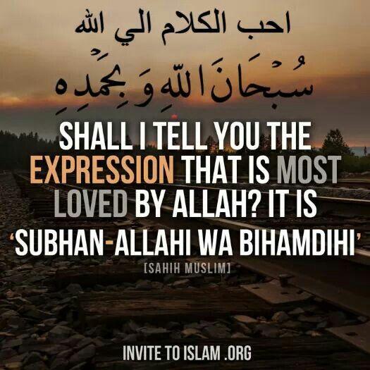 Subhanal-lahi wabihamdih ♥ سبحان الله وبحمده