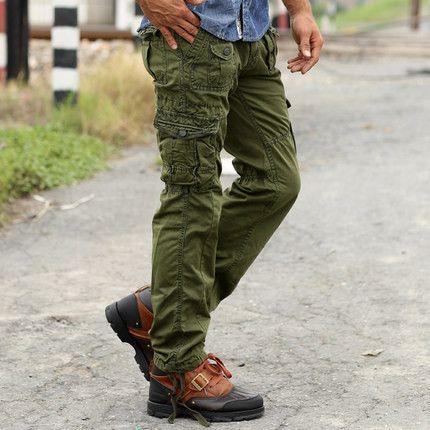 New Sweatpants Men's Casual Cargo Pants Cotton Emoji joggers sweatpants Military Army Green pants Fashion
