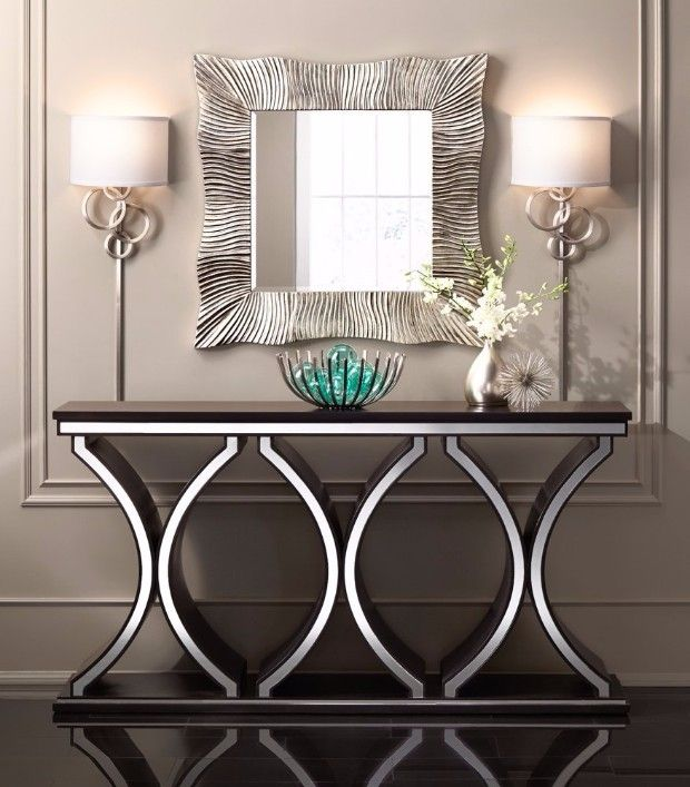Silver Console Tables You Must Have to turn your decoration into a luxurious wonderland! #consoletables #modernconsoletables #silverconsoletable #metalliccolor #metalfinishing #designideas #roomideas