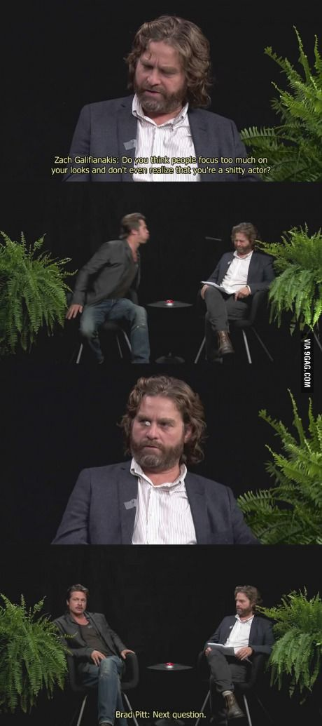 """""""Between Two Ferns"""" with Zach Galifianakis and Brad Pitt!"""