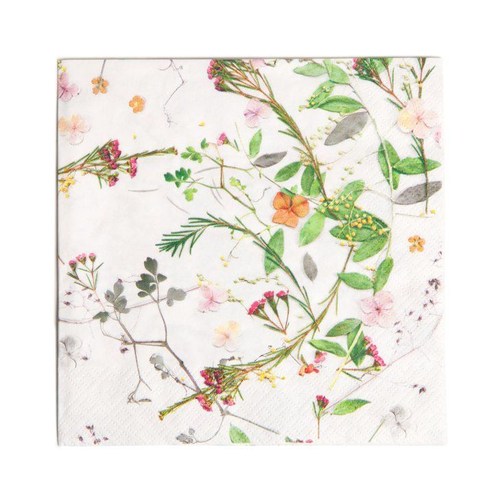 Pin for Later: 39 Amazing Zara Home Finds For $10 or Less Floral Paper Napkins Add color to your table with these plant paper napkins ($5).