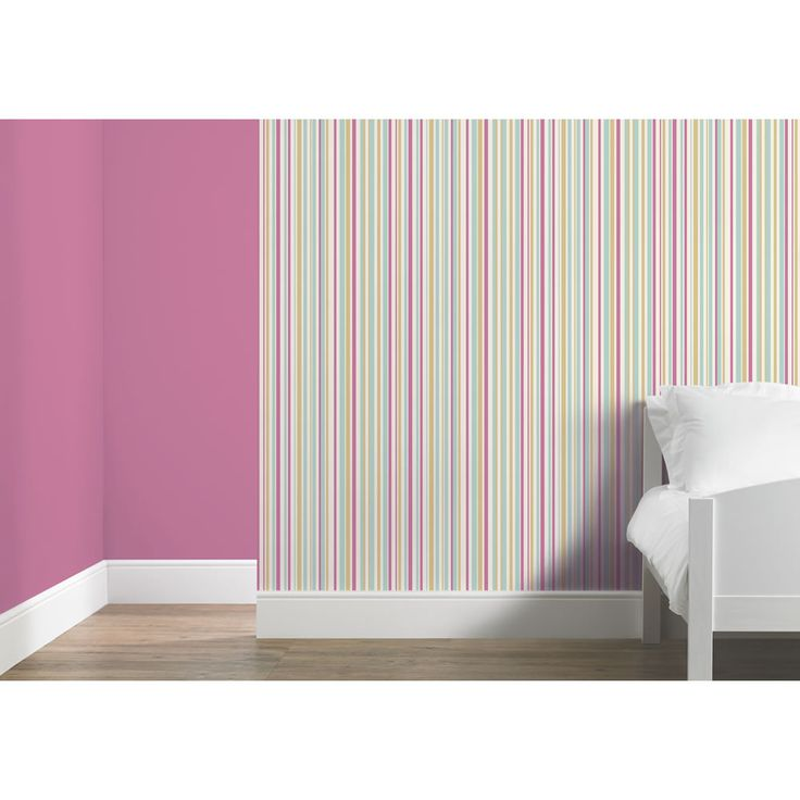 Arthouse Wallpaper Super Stripe Pink and Teal