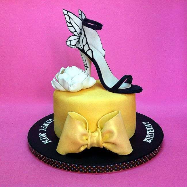 Hand sculpted 3D Butterfly High Heels Birthday Cake  Send cake online to loved one in #malaysia #cakeshop #cakestore #bakery #fashion #customcakes #kualalumpur #klangvalley #3dcakes #cakehouse #apparel #johorbahru #kepong #birthdaycakes #shoescake #highheels