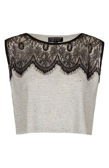 $28  Topshop Eyelash Lace Crop Tank Top | Nordstrom- Bought this from topshop last week! I'm in love with this too. :D @G Q