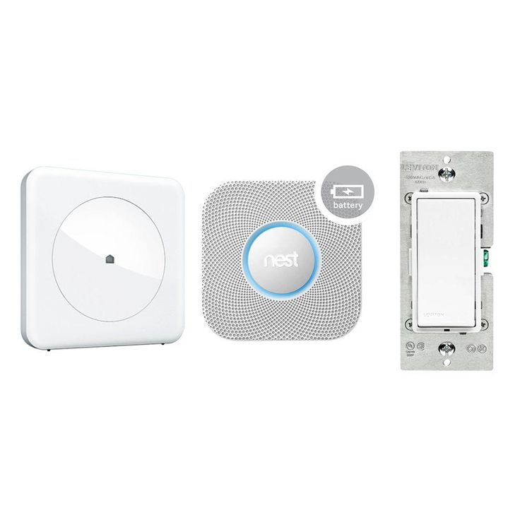 Home Automation Bundle with HUB/Nest Protect Smoke + CO Battery Alarm and Leviton Z-Wave Light Switch