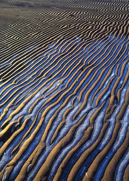 La mer et le sable se sont mariés et le sable s'est ridé... . / Wave patterns. / By Jan Tove.
