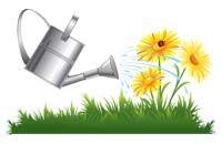 Lenagold - Клипарт - Желтые цветы 10