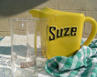 Beautiful French Vintage SUZE Water Jug