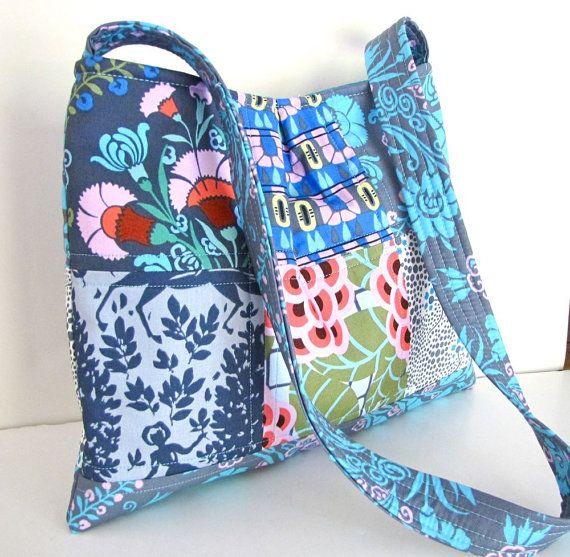 Patchwork Quilted Shoulder Bag Amy Butler by JanasTotesandBags