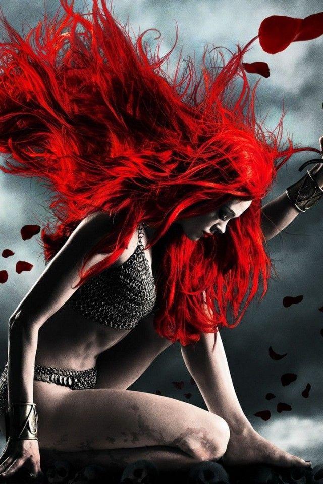 Redhead Warrior Fantasy Wallpaper
