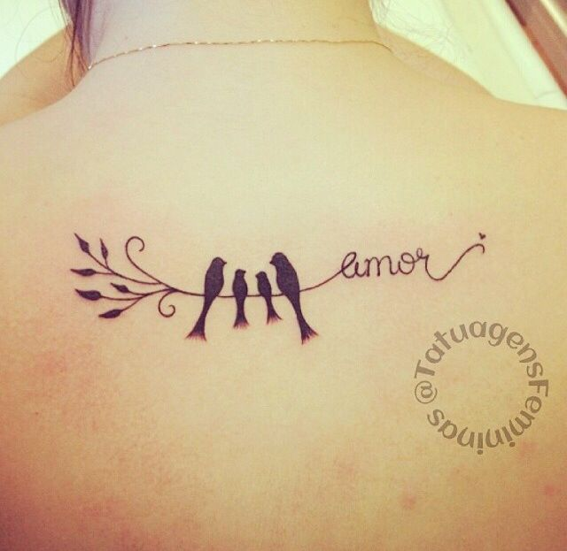 Fam lia tattoo pinterest for Family of birds tattoo