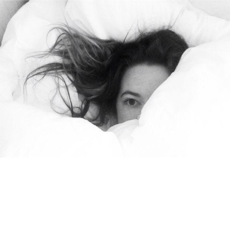 girl, black, white, sleep, bedroom