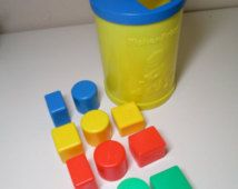 Vintage Fisher Price Block Set - #414 - 1977