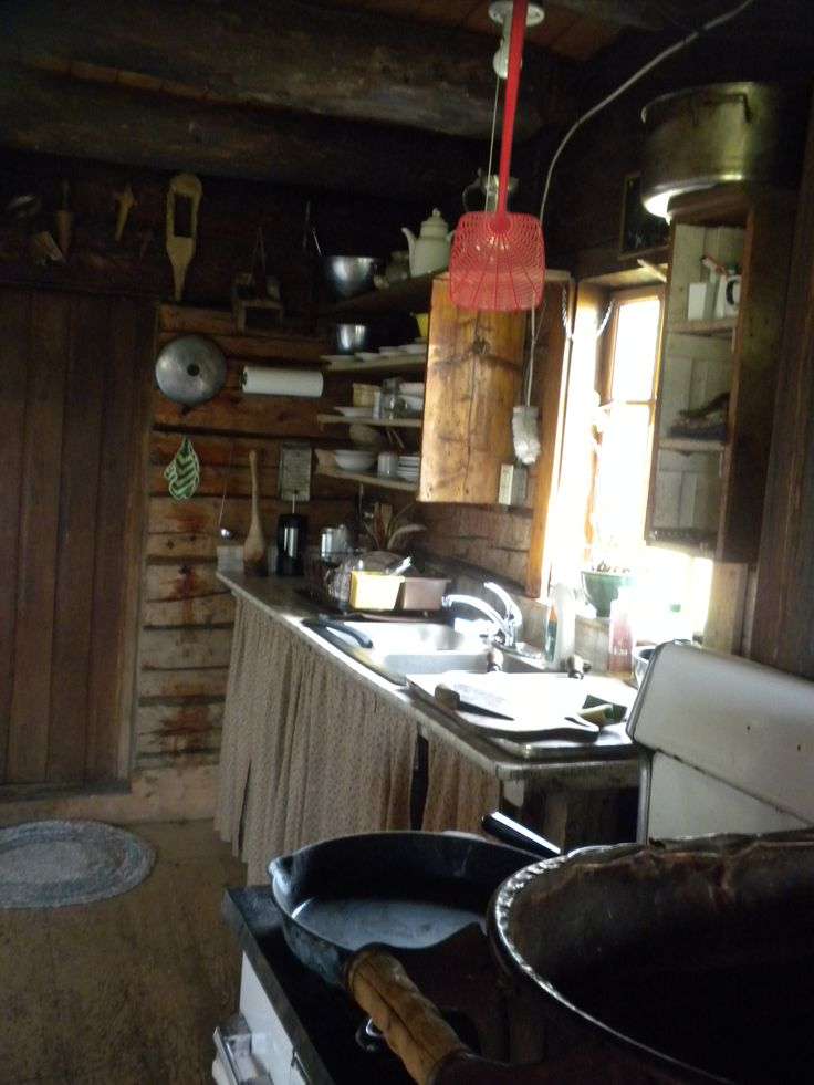Inside the original Kilcher Homestead cabin.