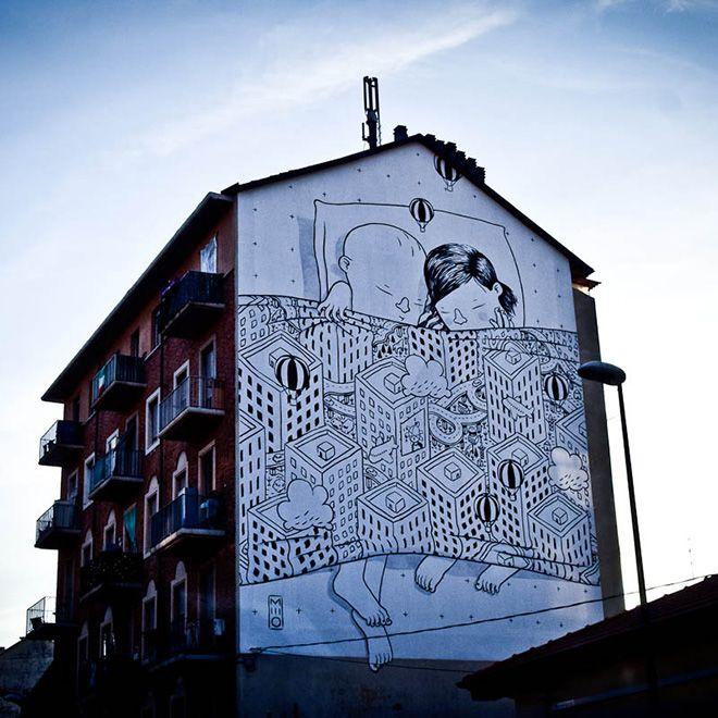 Millo - Street art, Mural #11 for Bart - Torino