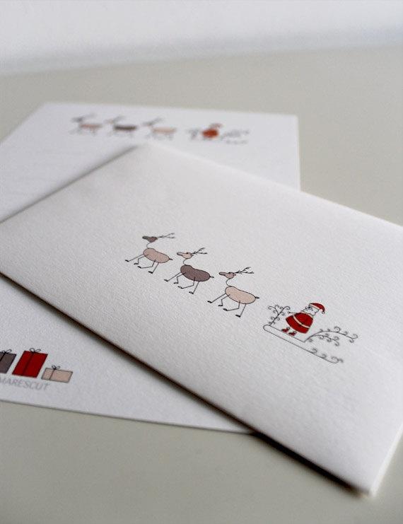 Letter to Santa Claus Carta  Papa Noel di MARESCUT su Etsy, $3,00