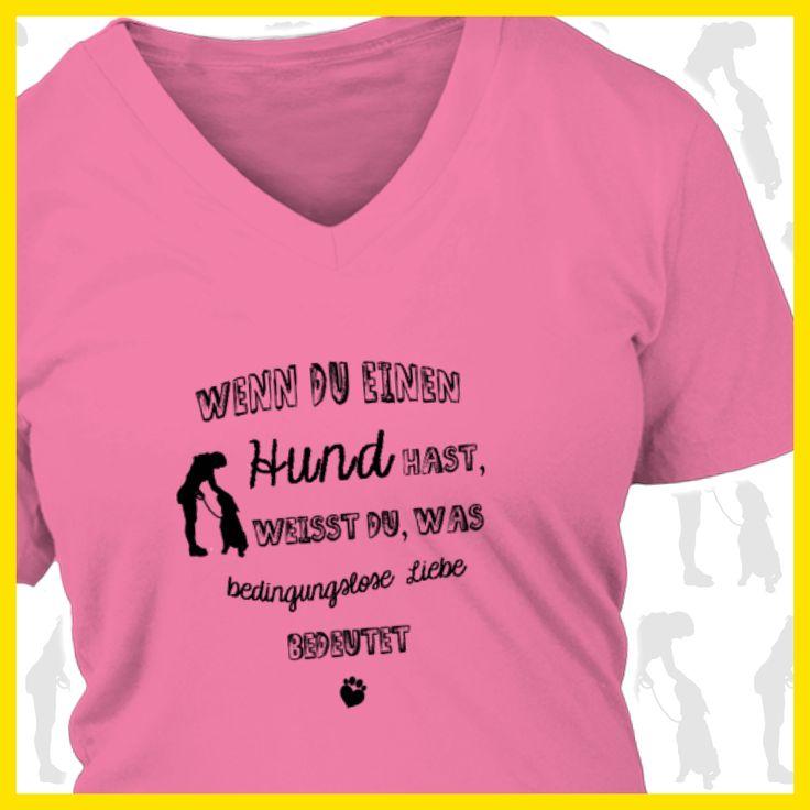 Wenn du einen Hund hast, weisst du, was bedingungslose liebe bedeutet  COOLES SHIRT, EXKLUSIVES MOTIV, LUSTIGER SPRUCH! Unser lustiges Hunde Sprüche Shirt / Hoodie ist das ideale Geschenk für Hundehalter, Hundebesitzer, Frauen & Frauchen!  Hund / Hundeshirt / Funshirt / Hundesprüche-Shirt / Spruch-Shirt / Motiv-Shirt / T-Shirt Motive / Langarmshirt / Ladyshirt / Top / Sweatshirt / Hoodie / Kapuzenshirt / Kapuzenpullover / Damen Hoodie / Pullover Bluse