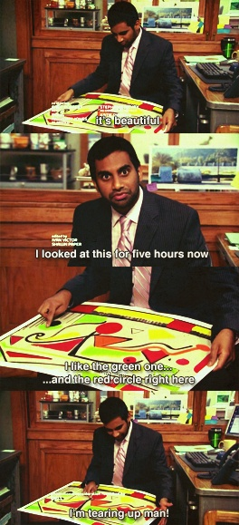 Tom Haverford on abstract art. #ParksandRec