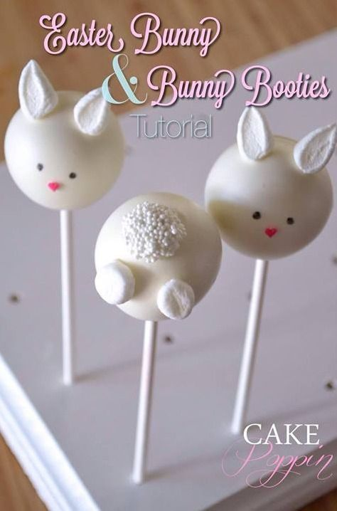 Easter bunny cake pop tutorial/ How to make cake pops with the children for Easter celebrations.