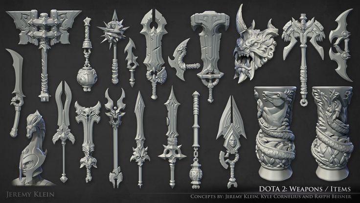 ArtStation - Dota 2 Weapons and Items, Jeremy Klein
