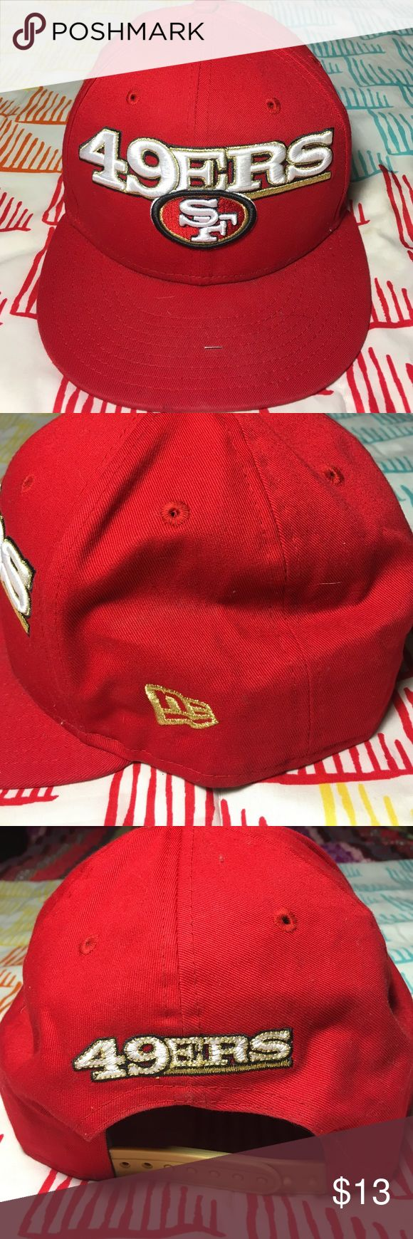San Francisco 49ers NFL Football SnapBack Hat Size One Size - Condition 9.5/10 New Era Accessories Hats