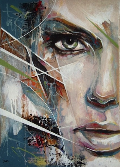 Mixed media portrait by Danny O'Connor