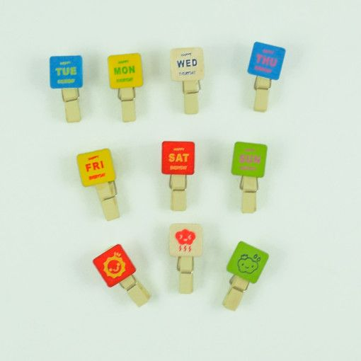 All the Days of the Week Paper Clips #DecoClips