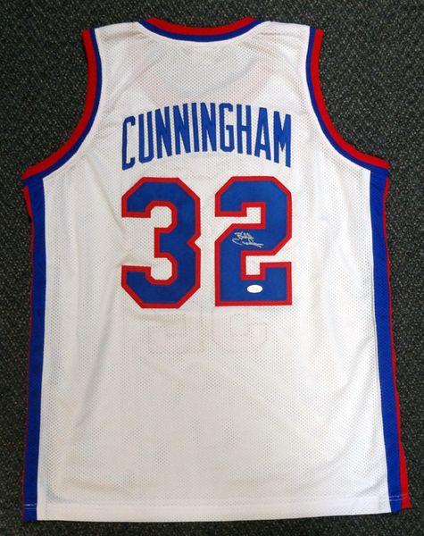 Philadelphia 76ers Billy Cunningham Autographed White Jersey JSA