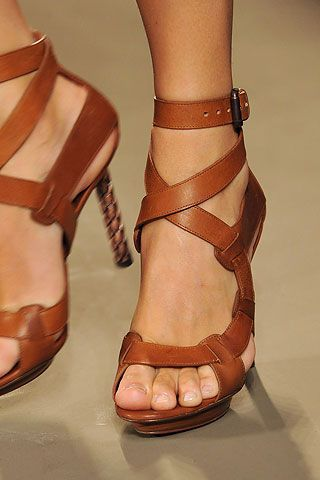 Awesome shoes!!!! Bottega Veneta...but I'd probably break an ankle walking in these.