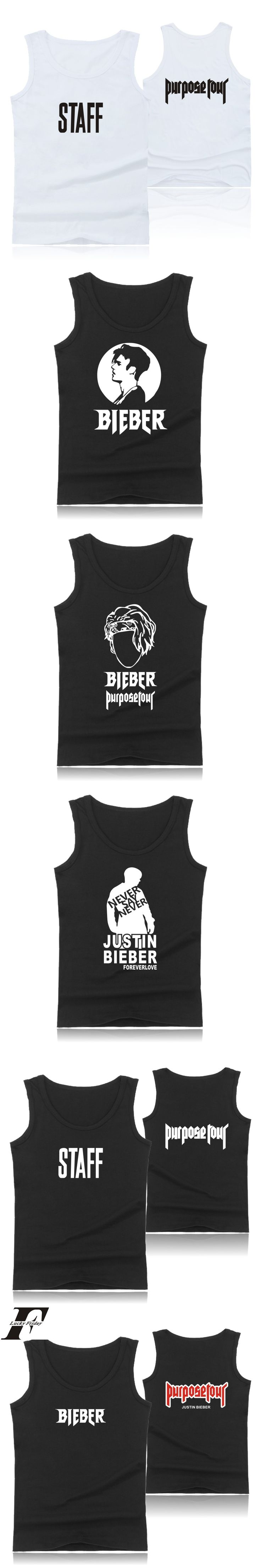 LUCKYFRIDAYF Justin Bierber Purpose Tour Plus Size Muscle Tank Tops for Men Summer Vests  Sleeveless clothes new fashion
