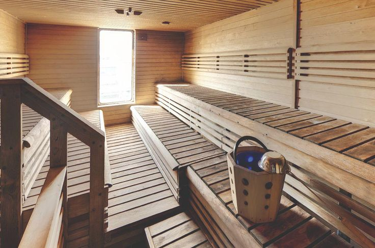 The men's sauna on the Ocean Endeavour with Quark Expeditions to Antarctica | heneedsfood.com