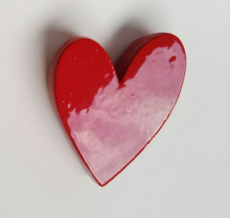 Red heart, heart, clay, ceramic heart di zacchetticaterina su Etsy