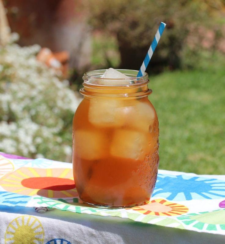 lemonade ice cubes in iced tea - GENIUS!
