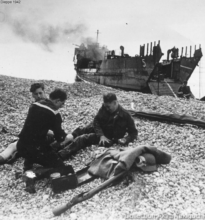 Carnage and first-aid at Dieppe