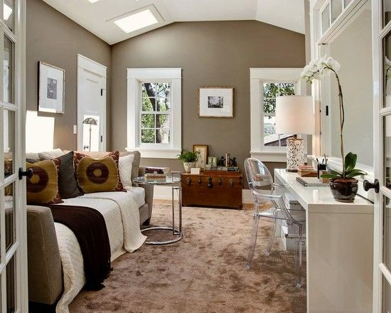 best 99 office den guest room ideas on pinterest home office corner office and work spaces. Black Bedroom Furniture Sets. Home Design Ideas