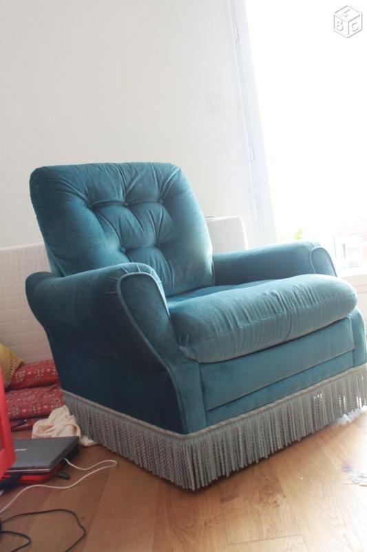 tr s beau fauteuil bleu canard turquoise therapie office pinterest fauteuil bleu canard. Black Bedroom Furniture Sets. Home Design Ideas