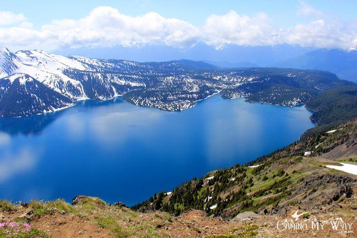 Cloud reflections, Garibaldi Lake from Panorama Ridge on a summer afternoon.