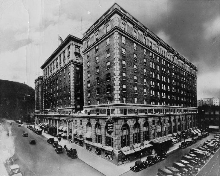 Hôtel Mont-Royal, vers 1920.  Centre d'archives de Montréal (P792, D5, P08), Keystone View Company Manufacturers Publishers