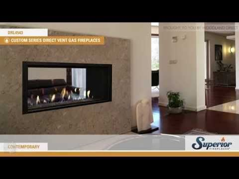 Superior Drl4543 Direct Vent See Through Linear Fireplace