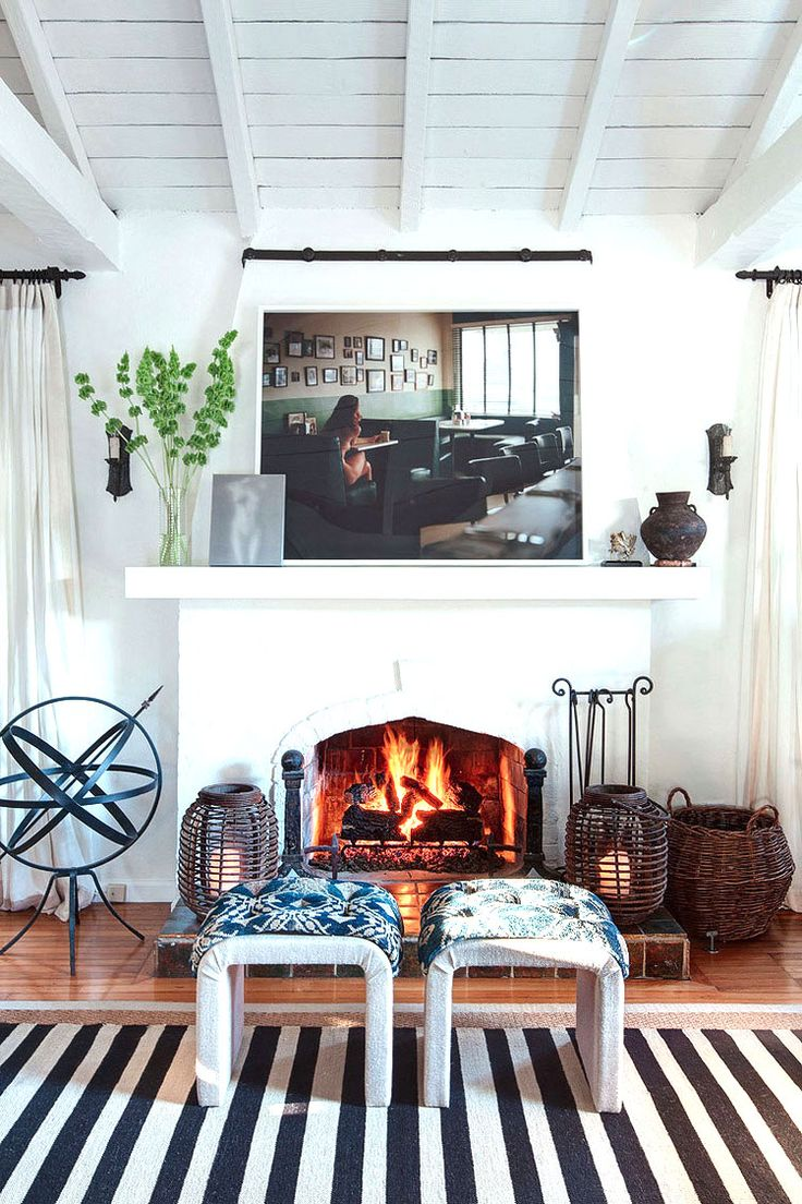 110 best Fireplaces images on Pinterest | Fire places, Living room ...