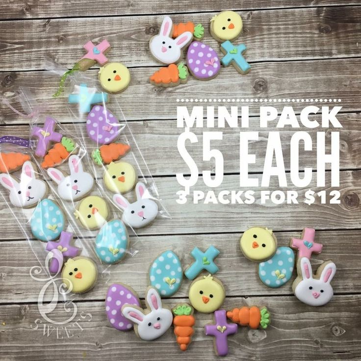 Mini Easter cookie packs