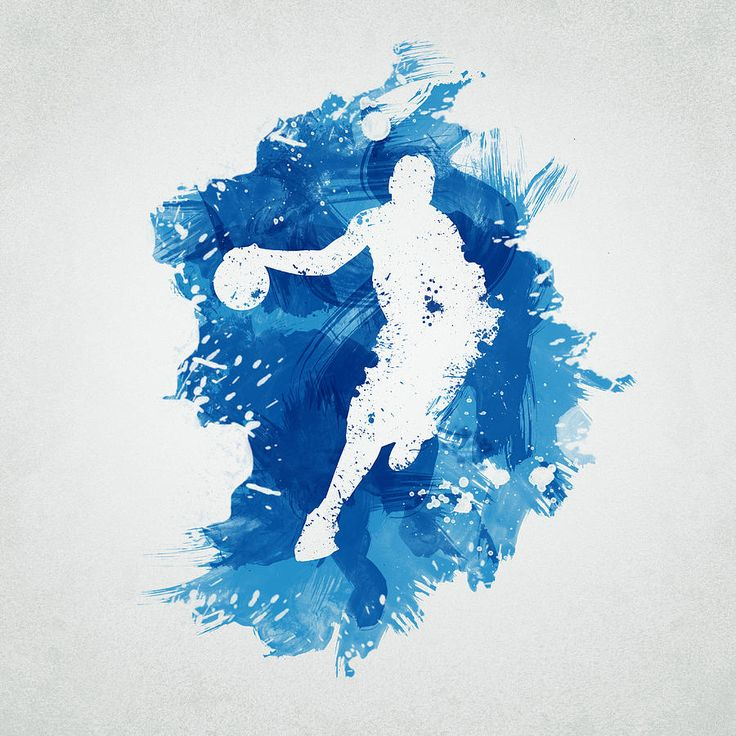 Abstract Digital Art - Basketball Player by Aged Pixel || http://fineartamerica.com/featured/1-basketball-player-aged-pixel.html