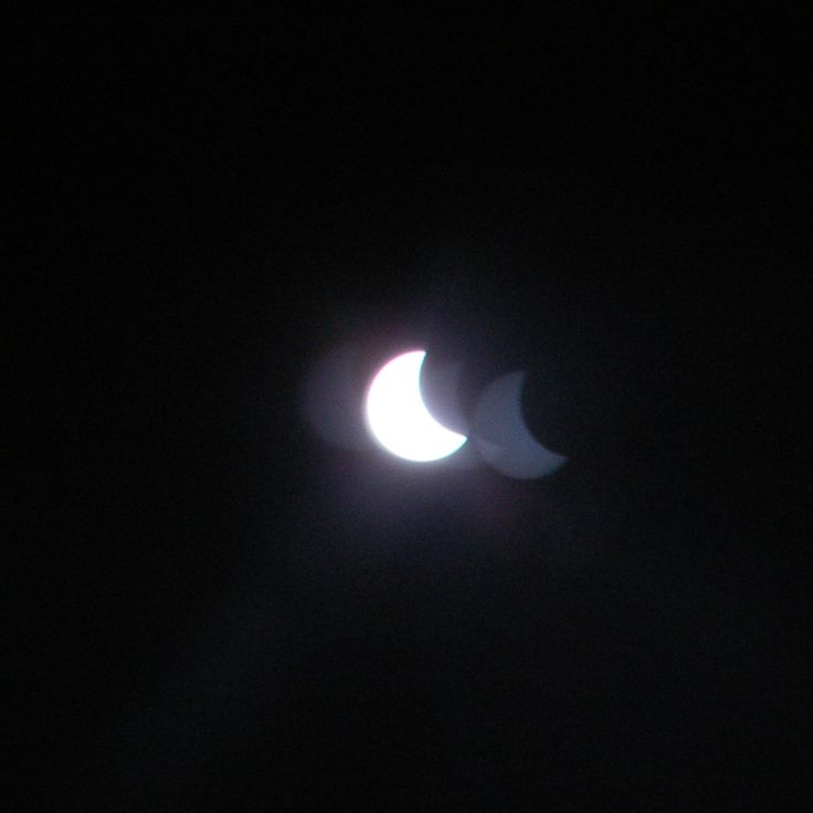 Солнечное затмение.  Solar Eclipse on March 20. Russia. The Moscow region.