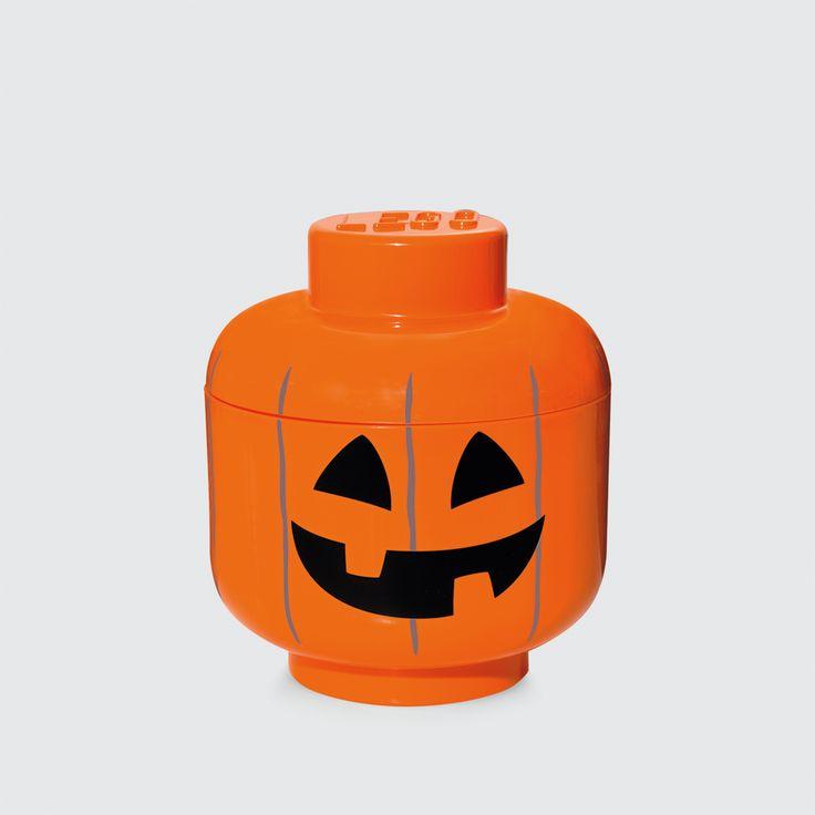 LEGO Storage, Pumpkin Head, Orange, Design by Room Copenhagen