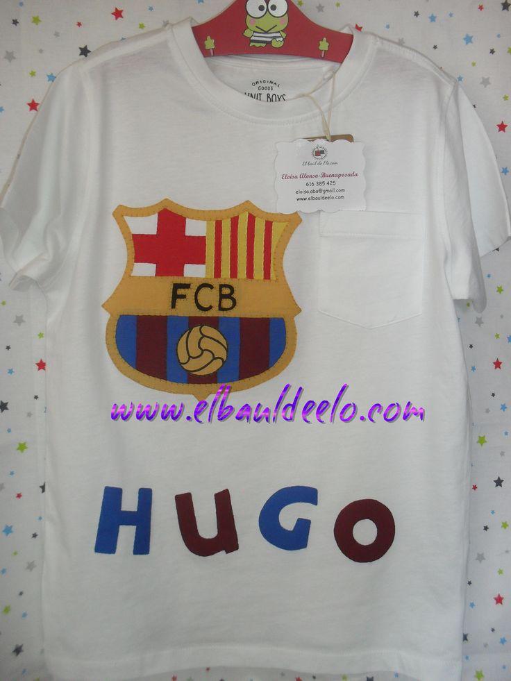 www.elbauldeelo.com aplicacion camiseta patchwork FC Barcelona