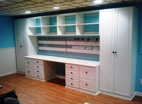 Basement Craft Room Design, Pictures, Remodel, Decor and Ideas - page 2