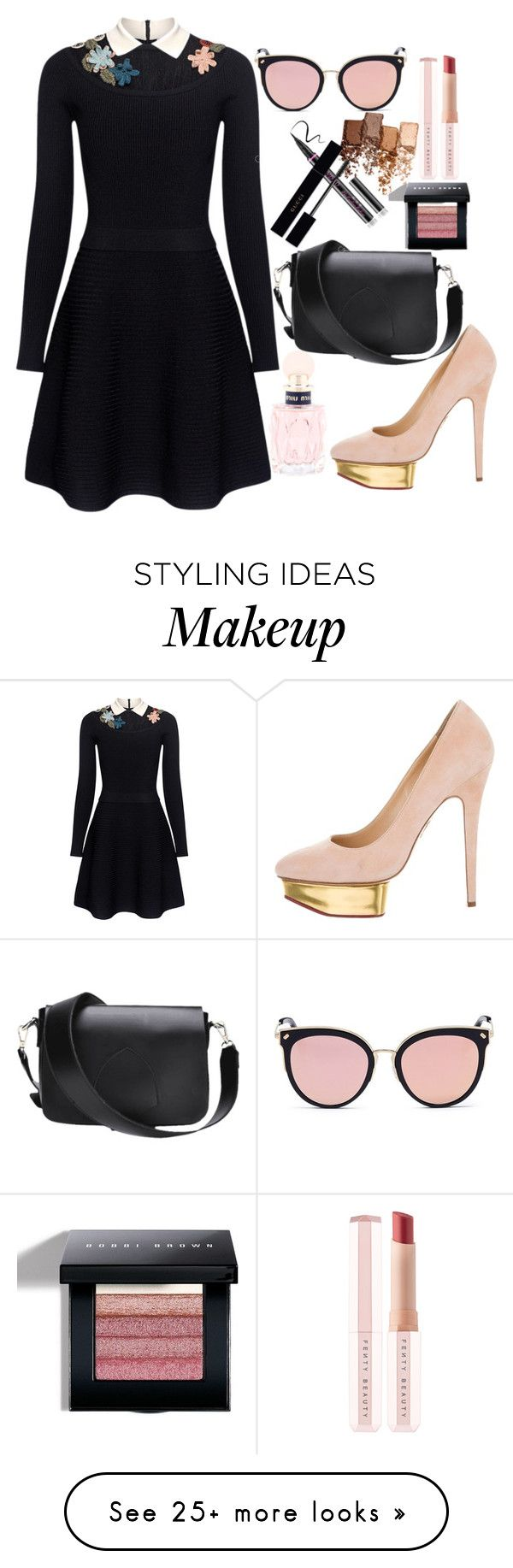 """""""power look"""" by itsbree013 on Polyvore featuring RED Valentino, Charlotte Olympia, Stephane + Christian, Miu Miu, Puma, Maybelline, Gucci and Bobbi Brown Cosmetics"""